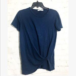 Stateside • blue drape tee shirt